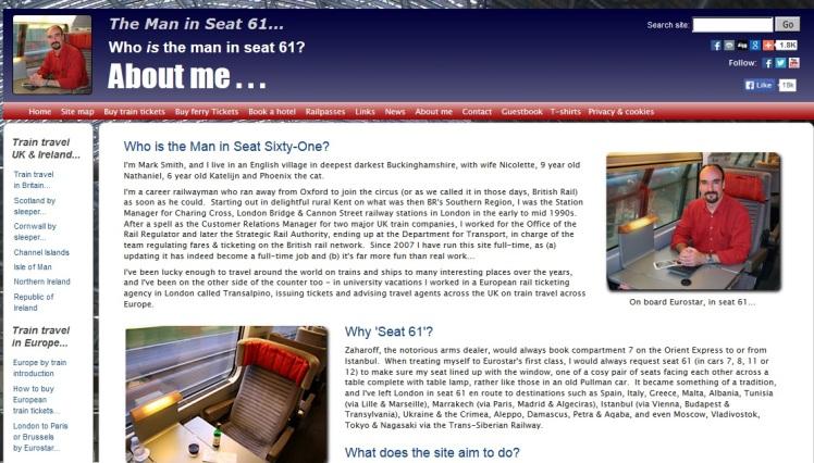 Człowiek z siedzenia 61 powie ci wszystko o podróżowaniu pociągiem