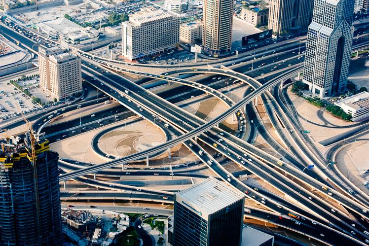 Widok z Burj Khalify (fot. Kuba Głębicki)