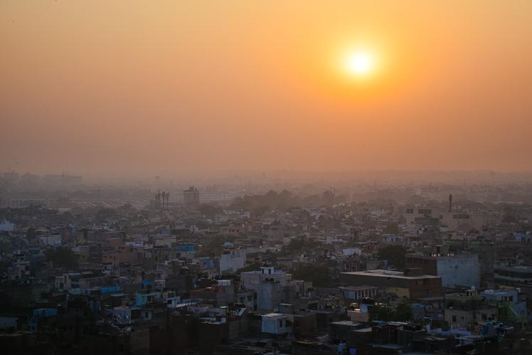 Delhi o zachodzie słońca (fot. Asia)