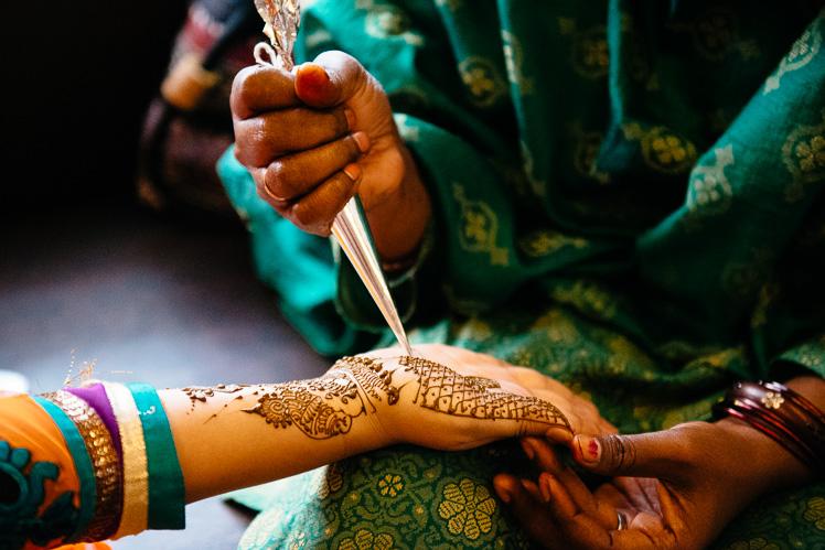 Tatuaż z henny (fot. Kuba Głębicki)