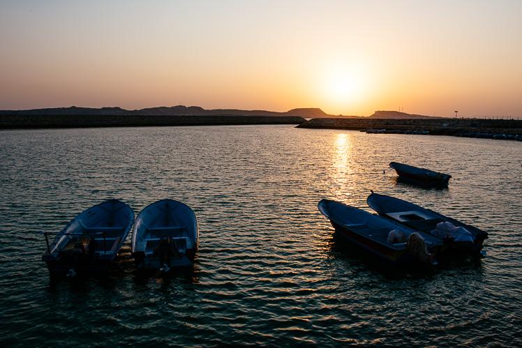 Zachód słońca w Shibderaz (fot. Kuba Głębicki)