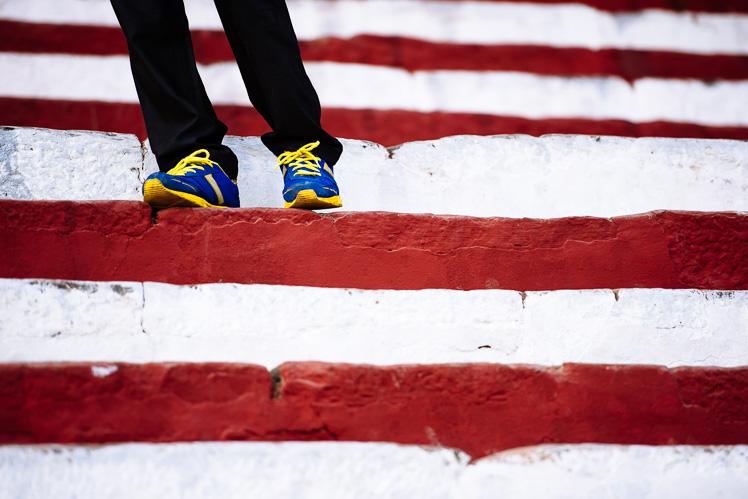 Na schodach Waranasi, fot. Kuba Głębicki