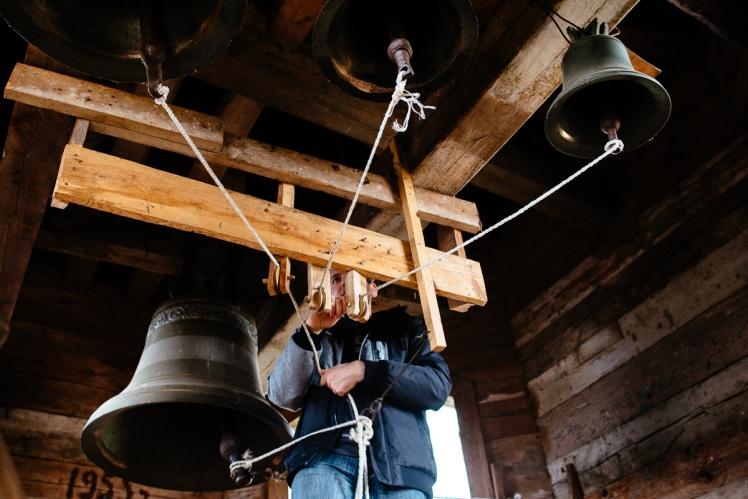 Dzwonnik z cerkwi Puchły, fot. Kuba Głębicki