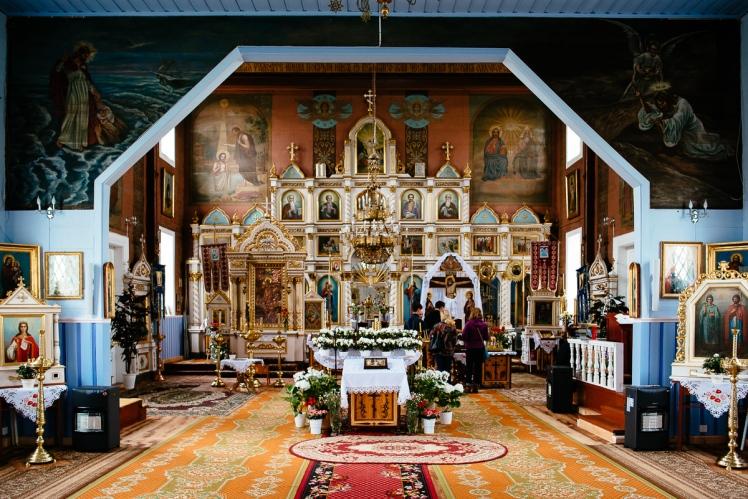 Wnętrze cerkwi, fot. Kuba Głębicki
