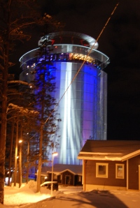 Arctura, the water supply container with a restaurant on top